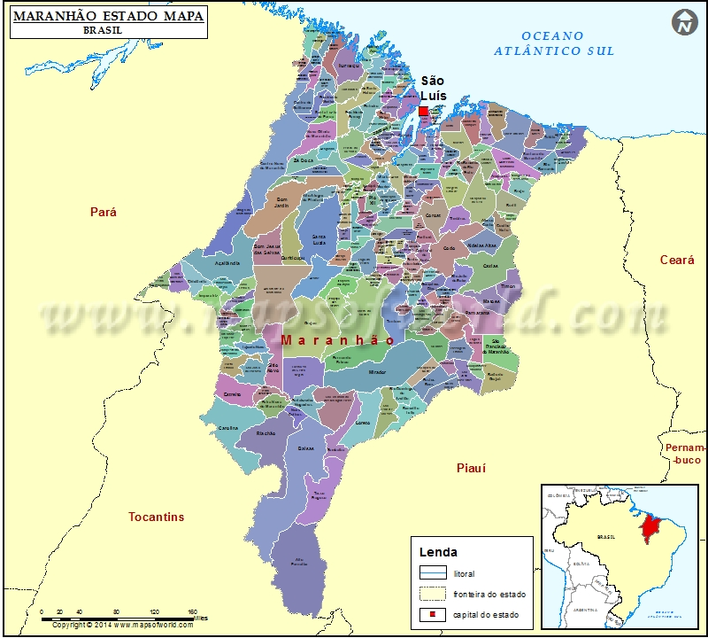matinha lisboa mapa Maranhao Mapa | Maranhao Estado Mapa, Brasil matinha lisboa mapa