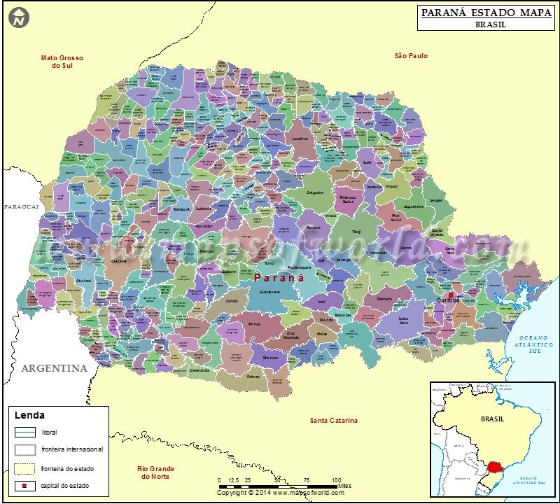 paraná mapa Paraná Mapa | Paraná Estado Mapa, Brasil paraná mapa