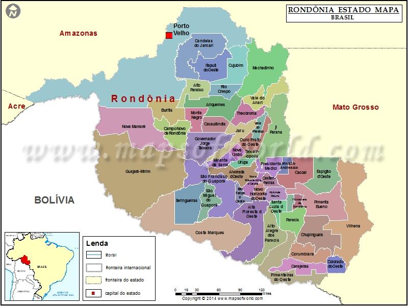 rondonia mapa Rondônia Mapa | Rondônia Estado Mapa, Brasil rondonia mapa