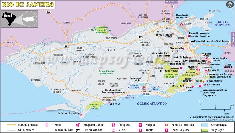 Rio De Janeiro Mapa