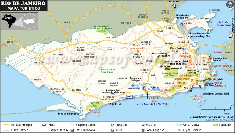 Rio de Janeiro Atrações turísticas Mapa
