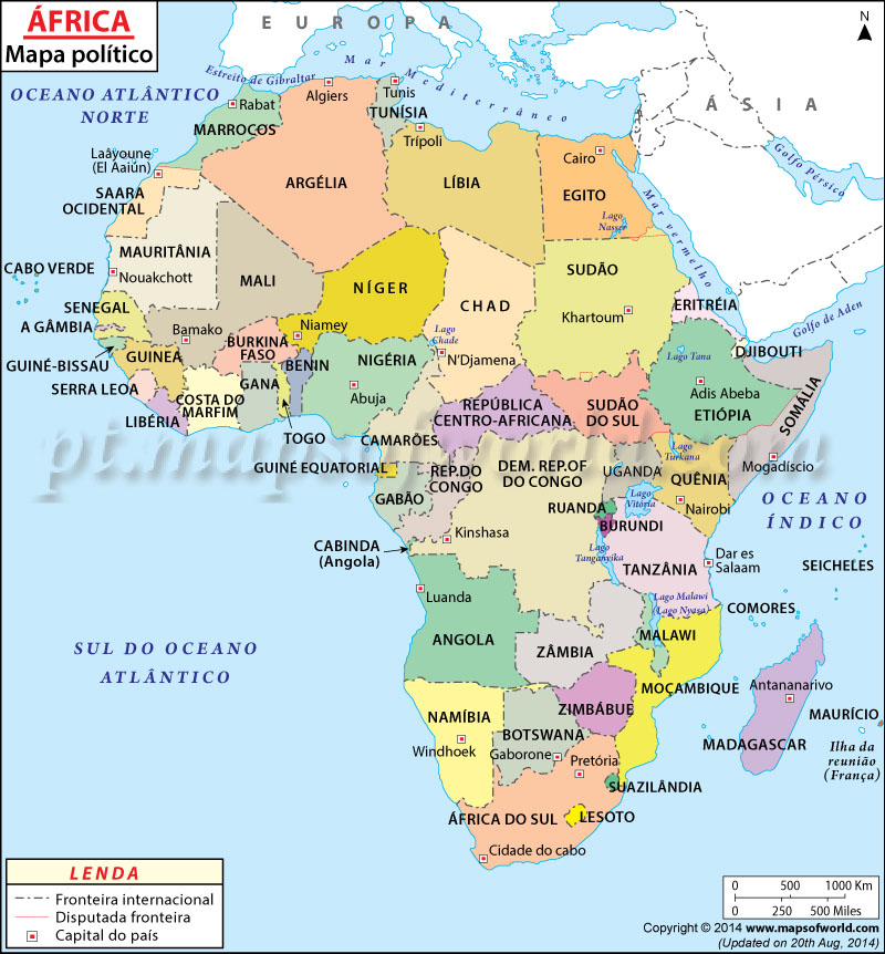 África Mapa
