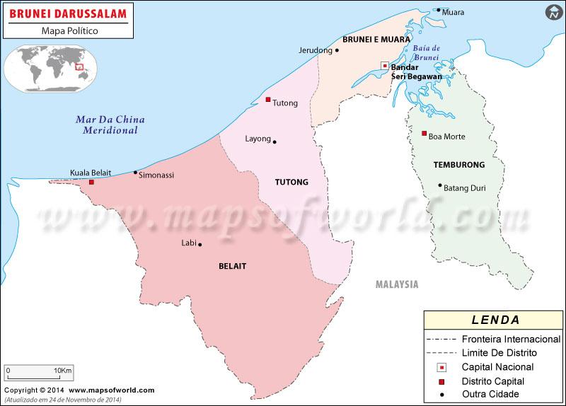 Brunei Mapa