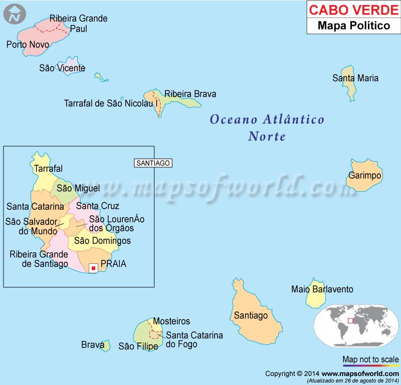 Cape Verde Mapa