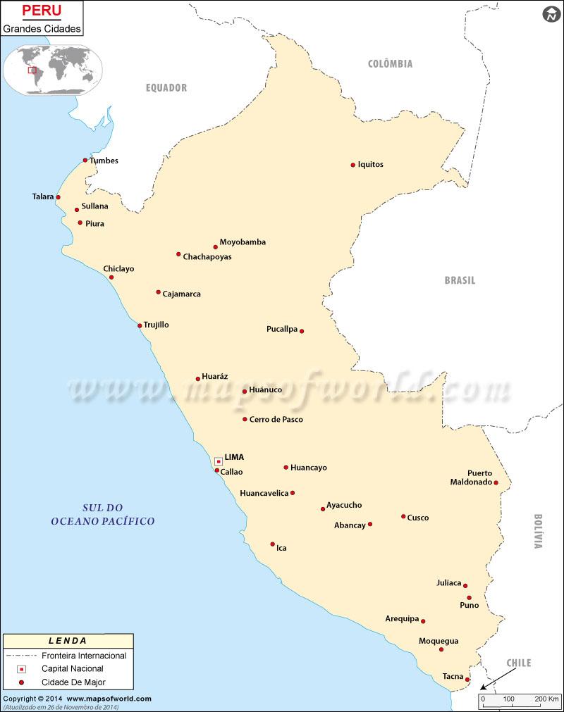 mapa do peru com cidades Cidades em Peru, Mapa de Peru Cidades mapa do peru com cidades