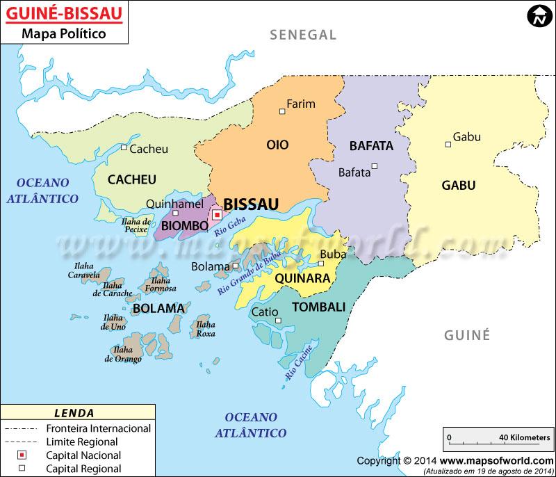 Guiné-Bissau Mapa