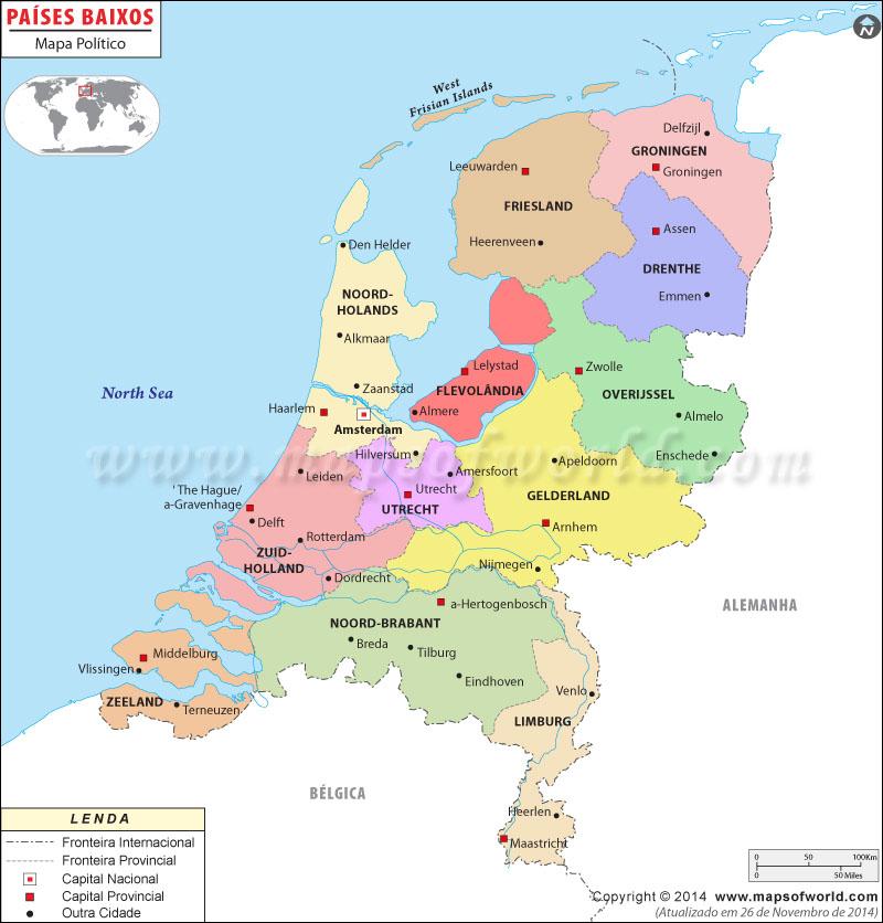 Holanda Mapa Político