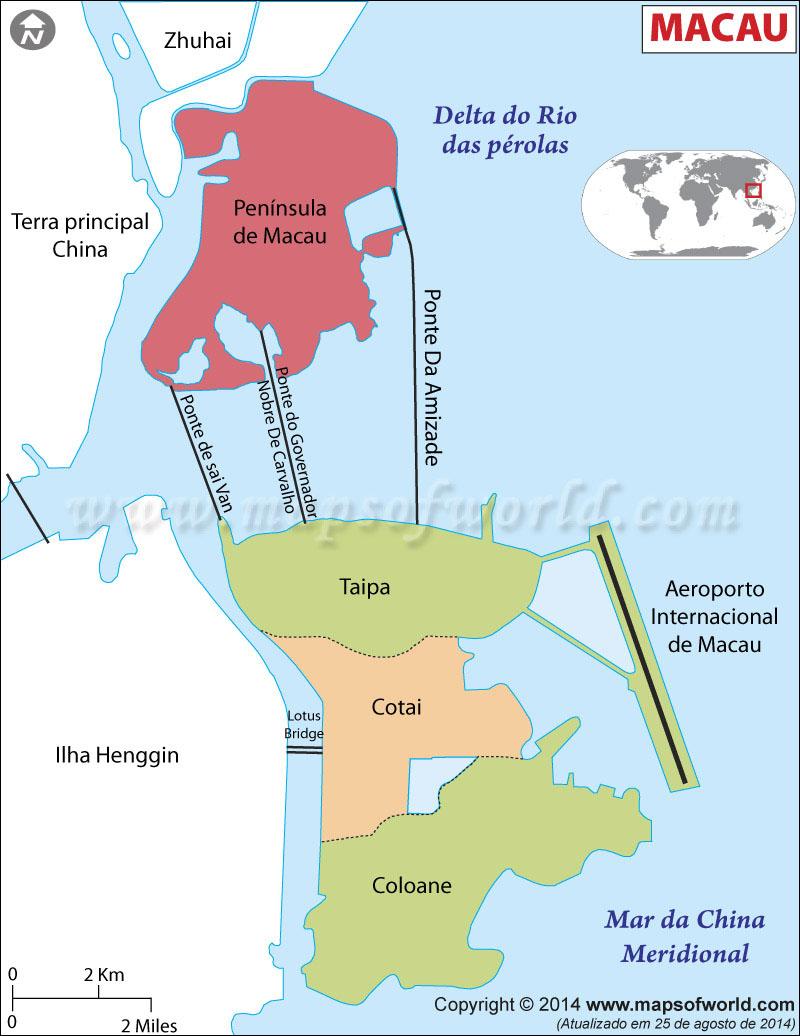 onde fica macau no mapa Macau Mapa , Mapa da Macau onde fica macau no mapa