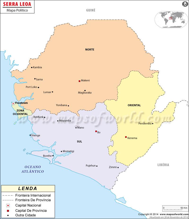 Sierra Leone Mapa