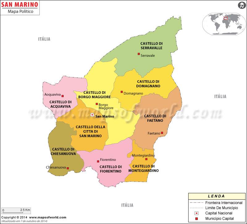 Mapa do San Marino