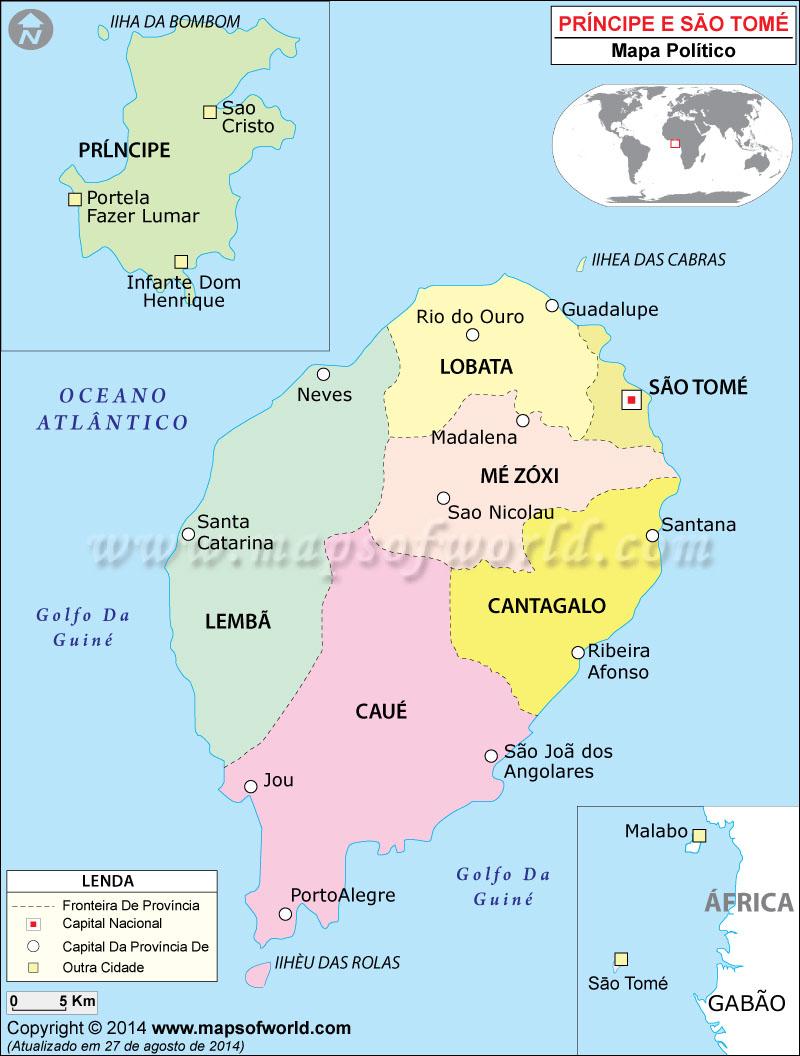 São Tomé e Príncipe Mapa